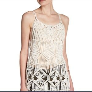 Willow & Clay Macrame Fringe Tank